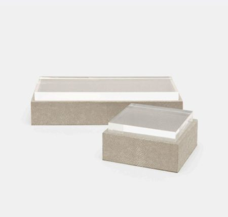 Made Goods shagreen box with see-through, acrylic lid